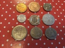 LOT DE 9 PIÈCES FRANÇAISES - Vrac - Monnaies