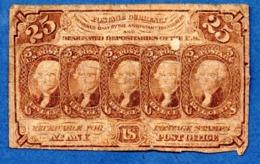 USA   -25 Cents 17/7/1862  -  Pick # 99  -  état   B - 1862 : 1. Ausgabe