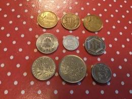 LOT DE 9 PIÈCES FRANÇAISES - Münzen & Banknoten