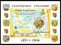 San Vicente Hoja Bloque Nº Yvert 56 ** BARCOS (SHIPS) - St.Vincent (1979-...)