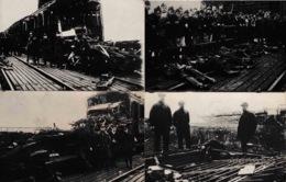 Kontich Accident De Train 4 Photos Cartes Rares - Kontich