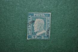Italie/Sicile 1859 Y&T 20a Oblitéré Faux/Forgery - Sicile