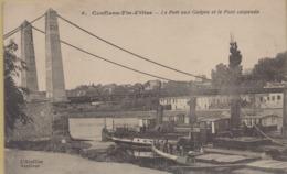 Conflans Saint Honorine : Le Port Aux Guêpes Et Le Pont Suspendu - Conflans Saint Honorine
