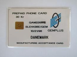 RARE TEST  GEMPLUS DANEMARK   TOP MAYBE MINT - Denemarken