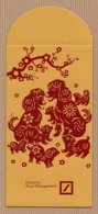 CC Chinese New Year DBANK 2018 DOG - CHIEN 1/2 CHINOIS Red Pockets CNY Card - Cartes Parfumées