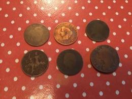LOT DE 6 PIÈCES FRANÇAISES - Münzen & Banknoten
