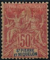 Saint Pierre Et Miquelon (1892) N 69 * (charniere) - Neufs
