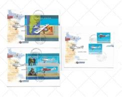 ARGENTINA 2000 AEROFILA 2000, SAINT EXUPERY, AVIATION, LITERATURE, SET ON 3 FDC - FDC