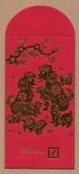 CC Chinese New Year DBANK 2018 DOG - CHIEN 2/2 CHINOIS Red Pockets CNY Card - Cartes Parfumées