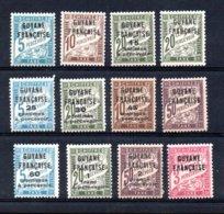 Guyane Taxes N° 1 à 12 **  A Saisir !!! - Französisch-Guayana (1886-1949)