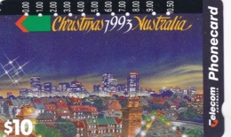 Australia, N931123a, 1993 Christmas -City Christmas, 2 Scans. - Kerstmis
