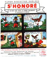 """B St H/Lot De 19 Buvards Biscottes """"ST Honoré Les Aventures De Pinpin"""" (manque Le 44/48) QQ Taches Et Le 9/12 Froissé - Zwieback"""
