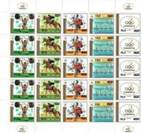 Turkmenistan 1993 .Ovpt Barcelona. 5 Strip Of 5v: 10,15,15,25,50. Michel # 25-29 Bg. - Turkmenistan