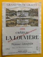 11785  -  Château La Louvière 1986 Pessac-Léognan - Bordeaux