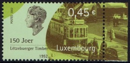 Luxemburg Luxembourg 2002 - Straßenbahn Tram - MiNr 1583** - Tramways