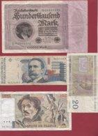 Pays DU Monde 190 Billets (33 SCANS) Dans L 'état - Lots & Kiloware - Banknotes