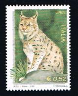 ITALY - 2002 - ANIMALS - WILDLIFE -  LYNX - 1  V. -  MNH - - Big Cats (cats Of Prey)