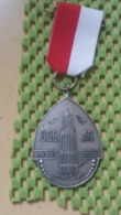 Medaille :Netherlands  -  Medaille - Wandelvereniging O.S.B Utrecht , 40 Jaar 1938-1978 - Medal - Walking Association - Nederland