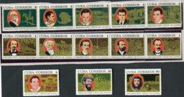 14943 CUBA  N° 1235/47** Centenaire De La Lutte Révolutionnaire   1968   B/TB - Ongebruikt