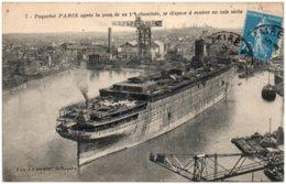 44 SAINT-NAZAIRE - Paquebot Paris Arpès La Pose De La 1er Cheminée - Saint Nazaire