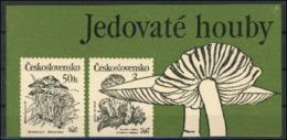 Tchecoslovaquie Mushrooms Champignons Carnet  MNH - Champignons