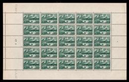 YV 582 N** En Feuille Complete De 25 Timbres Avec Coin Daté Du 21.5.43 - Feuilles Complètes
