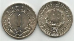 Yugoslavia 1 Dinar 1974. High Grade KM#59 - Joegoslavië