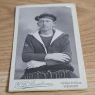 CDV Portrait Marin Torpilleurs 1 F - Brest - War, Military