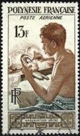 French Polynesia 1958 - Mi 10 - YT Pa 1 ( Artist Engraver ) Airmail - Gebruikt