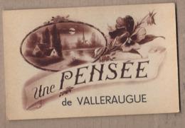 CPA 30 - VALLERAUGUE - Une Pensée De Valleraugue - TB CP Fantaisie Sur Le Village - Valleraugue