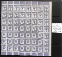 NN - D - [99728]TB//**/Mnh-c:74e-NN - Belgique 1951 - 10f Violet, Ballon Belgica, Morceau De Feuille 56 Timbres, Cdf (do - Erinnophilie