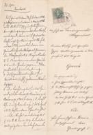 AUSTRIA  --  KLAGENFURT   --  1886  --  OLD DOCUMENT --  MIT 15 Kr   1885  TAX STAMP - Historische Dokumente