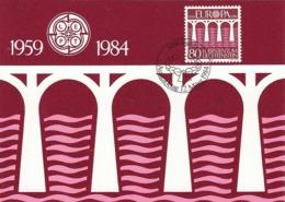 LIECHTENSTEIN Maximum Card 838 - Europa-CEPT