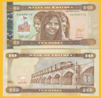 Eritrea 10 Nakfa P-11 2012 UNC Banknote - Eritrea