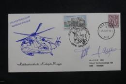 BELGIQUE - Enveloppe Par Hélicoptère  En 1981 , Voir Cachets Et Signatures - L 43266 - Belgium