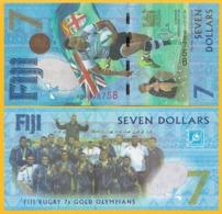 Fiji 7 Dollars P-120 2017 Commemorative UNC Banknote - Fiji