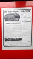 Ancienne Pub Les Antidérapants Durandal,usines A L'Ecluse Nord( Grand Format) - Advertising