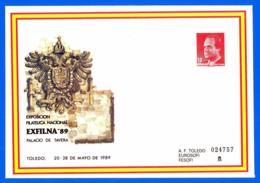 España. Spain. 1989. Postal Stationery. Entero Postal. Exposicion Filatelica Nacional. EXFILNA '89. Toledo - Enteros Postales