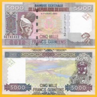 Guinea 5000 Francs P-44 2012 UNC Banknote - Guinea