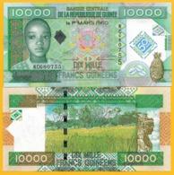 Guinea 10000 (10,000) Francs P-45 2010 Commemorative UNC Banknote - Guinee