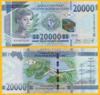Guinea 20000 (20,000) Francs P-50 2015 UNC Banknote - Guinee