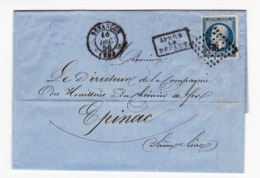 Besançon 1856 Doubs Bugnot Collandon & Cie Houillères Chemin De Fer Épinac Saône-et-Loire Houille Pont-d'Ouche - 1853-1860 Napoleon III