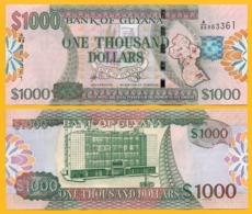 Guyana 1000 Dollars P-39b 2009 UNC Banknote - Guyana