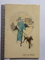 Menu 5 Avril 1923 - Café De Paris - Illustrateur MOLINO - Menú