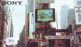 Telecarte Japon (943) Statue De La Liberte * New York * USA * PHONECARD JAPAN * STATUE OF LIBERTY * - Landscapes
