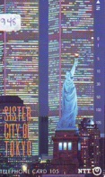 Telecarte JAPON (948) Statue De La Liberte * New York * USA * PHONECARD JAPAN * STATUE OF LIBERTY * - Landscapes