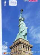 Telecarte JAPON (949) Statue De La Liberte * New York * USA * PHONECARD JAPAN * STATUE OF LIBERTY * - Landscapes