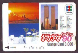 Telecarte JAPON (951) TWIN TOWERS * New York * USA * PHONECARD JAPAN * - Landscapes