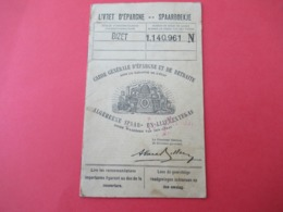 Livret D'Epargne/Caisse Générale D'Epargne Et De Retraite Sous La Garantie De L'Etat/SPAARBOEKJE/Belgique/1936   VPN286 - Ohne Zuordnung