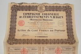 Compagnie Coloniale Des établissement N. Hagen ( Nouvelle Hébrides ) Complet - Tourisme